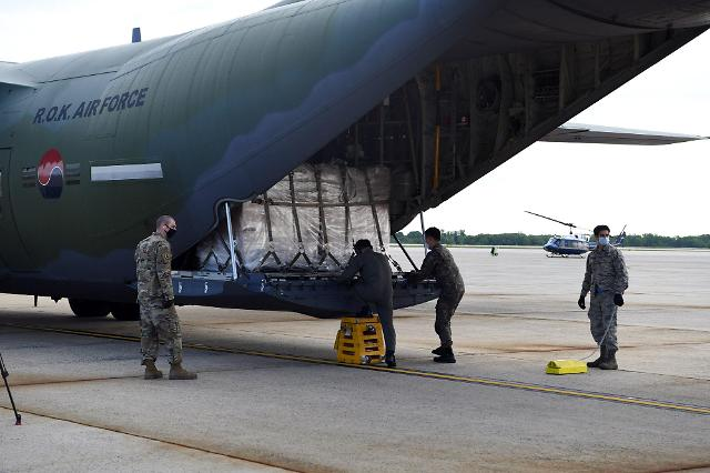韩国向美国韩战参战老兵赠口罩50万张