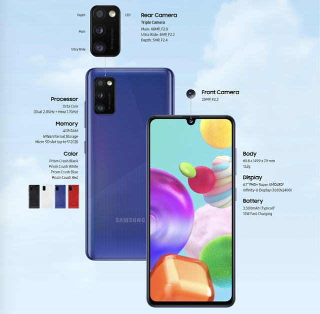 Galaxy A41及A21s接连上市 三星电子发力中低端手机市场