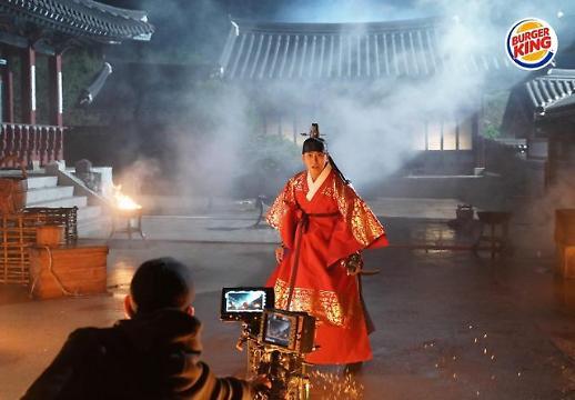 朱智勋成为韩国汉堡王新品代言人