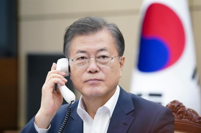 文在寅同格鲁吉亚总统通电话共享抗疫信息