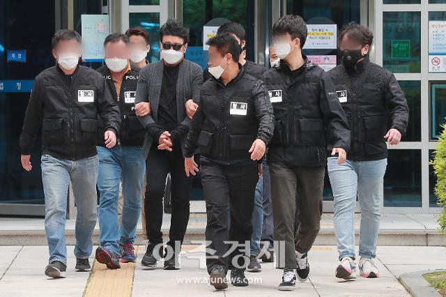 [포토] 아파트 경비원 폭행 의혹 심모씨, 구속영장 실질심사 종료