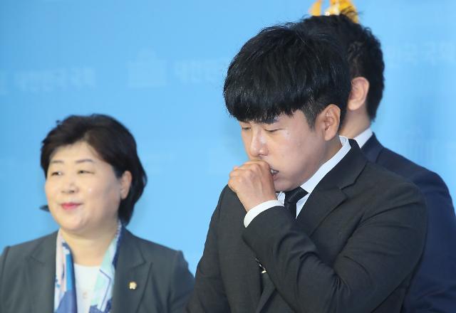 [포토] 구하라 법 통과 촉구하는 친오빠 구호인 씨