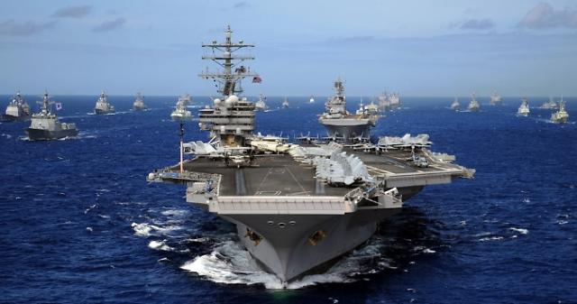 两艘韩军舰参加2020年环太平洋军事演习