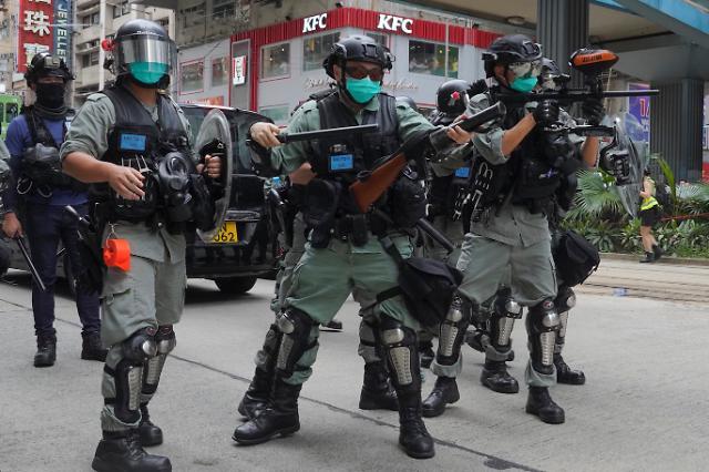 홍콩, 국가보안법 반대 시위 열려.. 대규모 시위 재점화 우려 고조