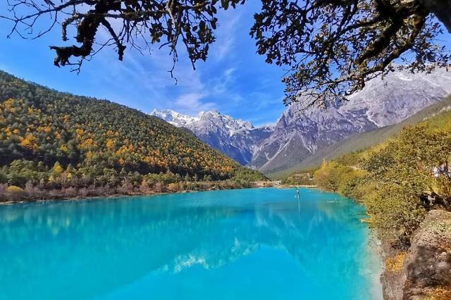 [중국포토]랜선으로 보는 中 리장 옥룡설산... 그림같은 풍경