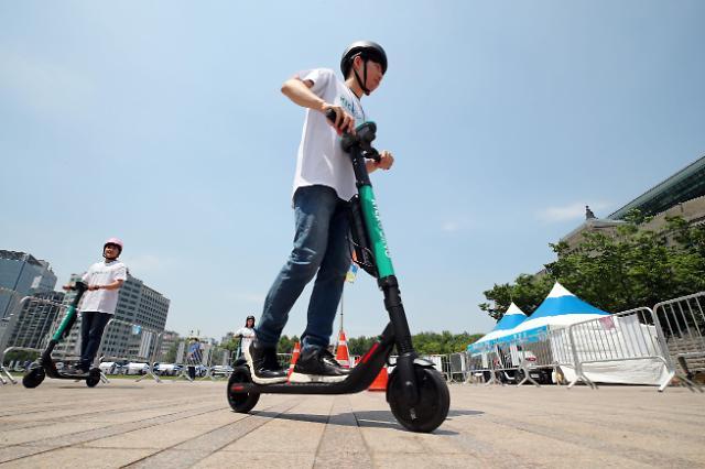 调查:新冠疫情下韩共享电动滑板车市场规模同比增六倍