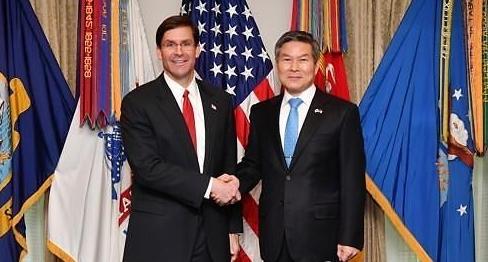 韩美防长或下月举行视频会议