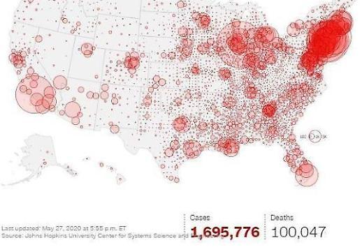 Mỹ: Hơn 100.000 người chết do Covid19…1 cột mốc bi thảm