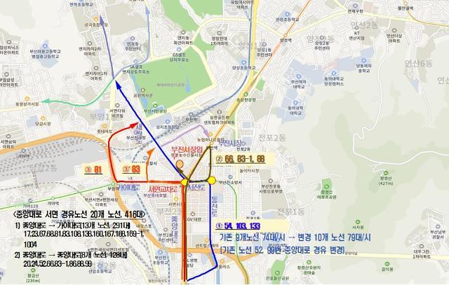 부산시, 서면교차로 BRT 교통체계 전면 개편