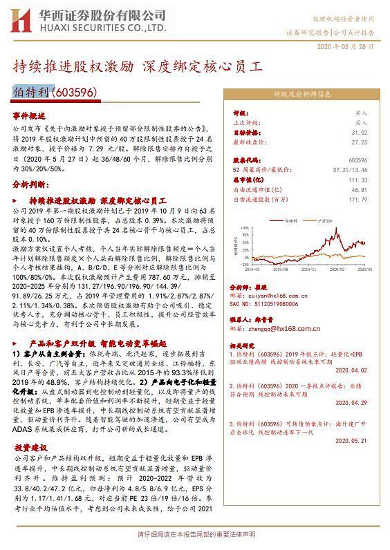 [중국 마이종목]자동차 안전장치 제조업체 보터리 투자의견 '매수'
