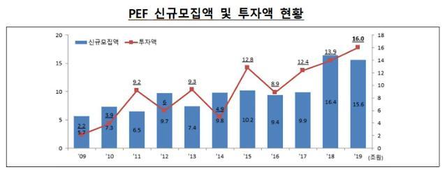 작년 신설 경영참여형 사모펀드 206개 '사상최대'