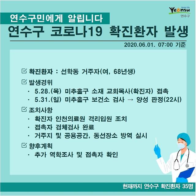 인천 연수구청, 선학동 거주 50대 여성 확진자 발생…교회서 확진 추정