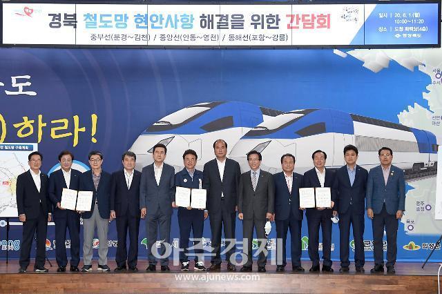 경북도, 시장·군수와 함께 현안철도 조기구축을 위한 간담회 개최