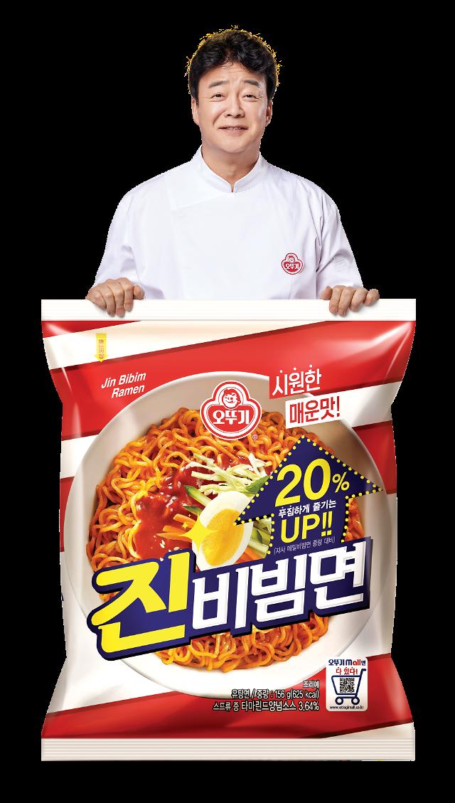"""""""백종원 효과?""""…진비빔면, 출시 2개월 만에 2000만개 팔렸다"""