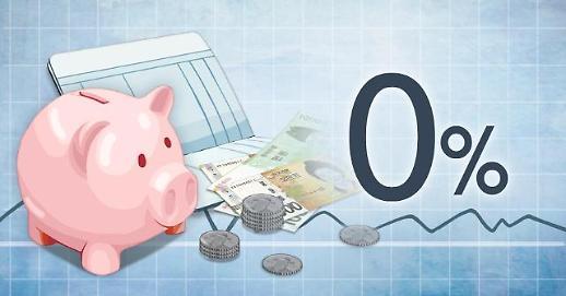 零利率时代下韩银行定期存款一月间蒸发5万亿韩元