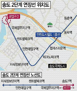 인천시,연말 개통 도시철도 신설역명 확정 고시
