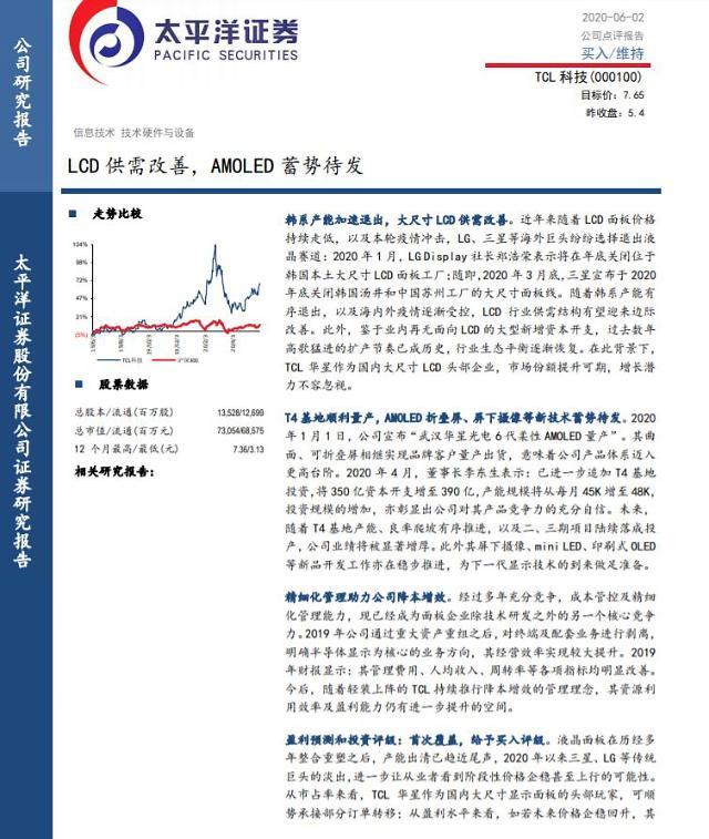 [중국 마이종목]中 최대 TV업체 TCL, 삼성·LG 덕분에 실적 기대감