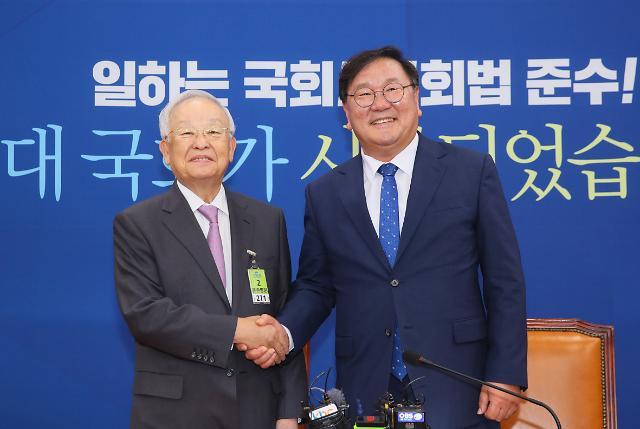 """손경식, 김태년 만나 """"탄력근로제·유연근로제 입법화"""" 요구"""
