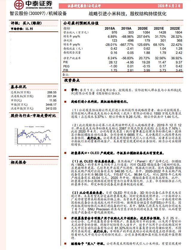 [중국 마이종목]中자동화부품업체, 샤오미 업고 실적 성장 본격화 기대