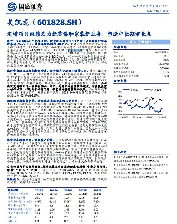 [중국 마이종목] 메이카이룽 유상증자로 최대 40억 위안 조달