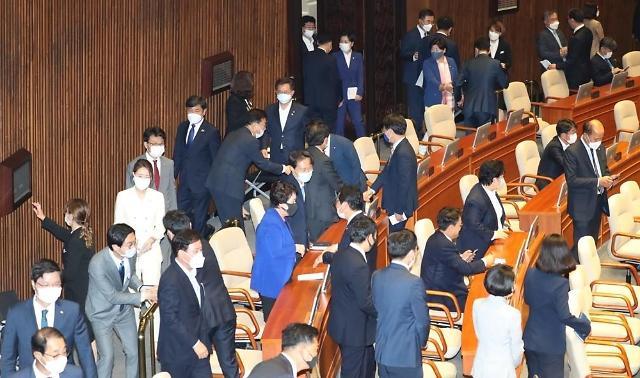 韩国第21届国会首开会 受最大在野党抵制