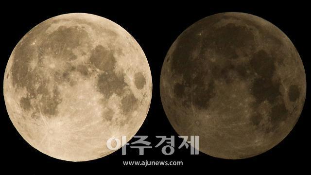 [포토] 이시각 진행되는 반영월식