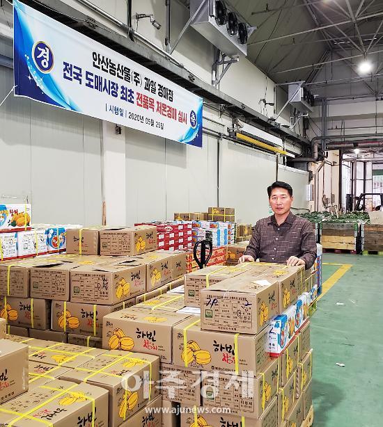 안산시, 농수산물도매시장 저온경매 유통시스템 본격 가동