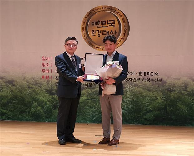 부경산업, 대한민국환경대상 자원순환 부문 대상... '재활용 방치폐기물 처리 앞장'