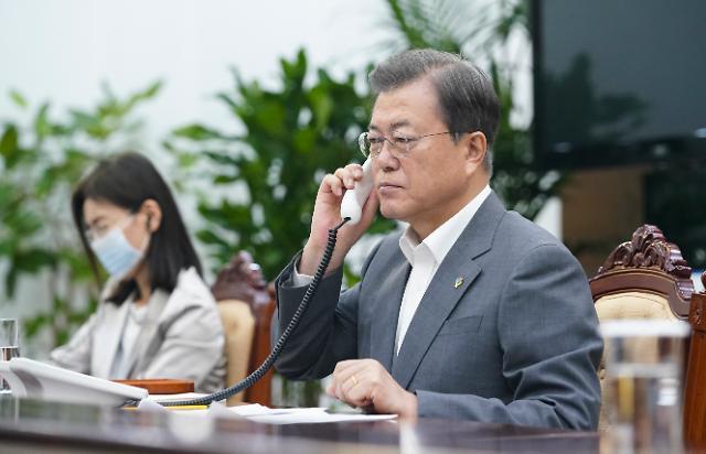 """文 대통령, 온두라스 정상통화서 협력 논의…""""디지털뉴딜, 전자정부와 연계"""""""