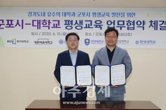 성결대-군포시 평생교육 업무협약 체결