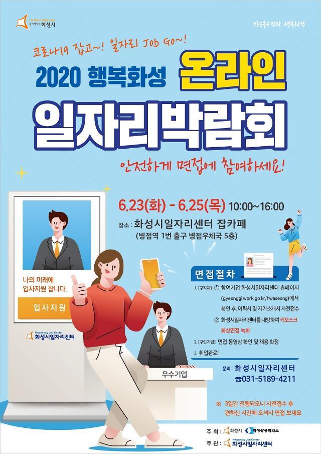 화성시, 23~25일 비대면 온라인 일자리박람회 개최