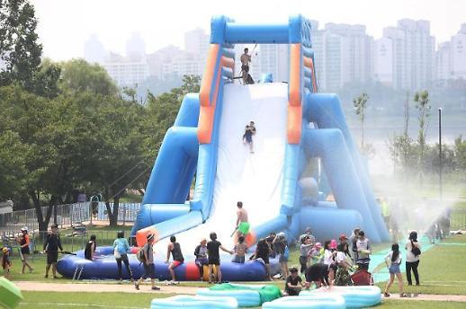这个夏天玩水有点难 疫情下韩汉江公园游泳场推迟开放