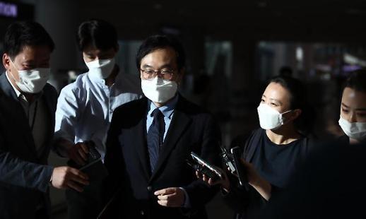 韩国对朝代表李度勋结束访美之行回国