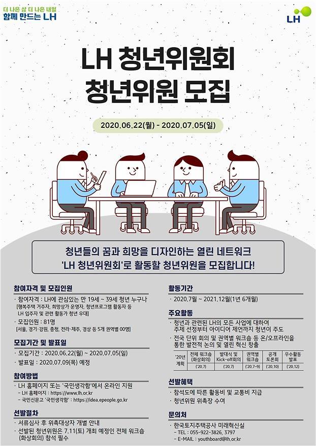 LH, 미래사업 선도할 청년위원회 구성…청년 맞춤형 사업 추진