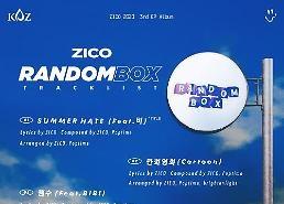 Zico phát hành album mới Random Box…Hợp tác với Bi Rain trong ca khúc chủ đề