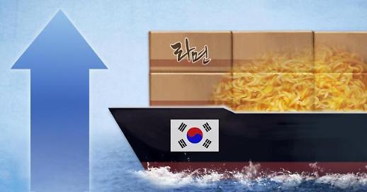 韩国方便面和泡菜出口连续4个月呈两位数增长