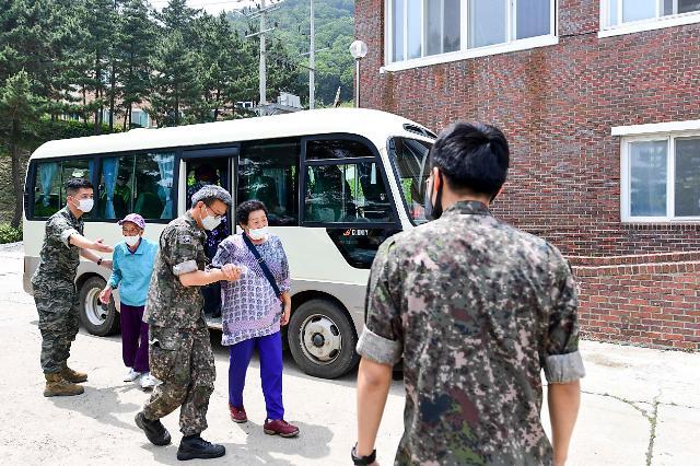 해병대 6여단, 호국보훈의 달 맞아 보훈가족·참전용사 대상 의료봉사 실시