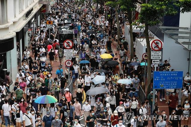 홍콩 국가보안법 시행 첫날 180명 체포