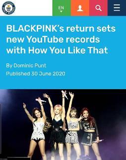 BLACKPINK新歌创下5项吉尼斯纪录 跻身国际一线女团