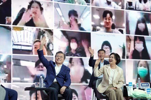 [포토] 동행세일 현장 방문한 문재인 대통령 내외