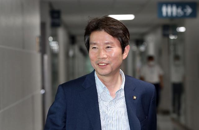 [포토] 밝은 표정의 이인영 통일부 장관 내정자