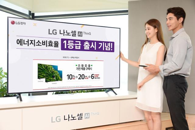 LG전자, 에너지 소비효율 1등급 LG 나노셀 TV 출시