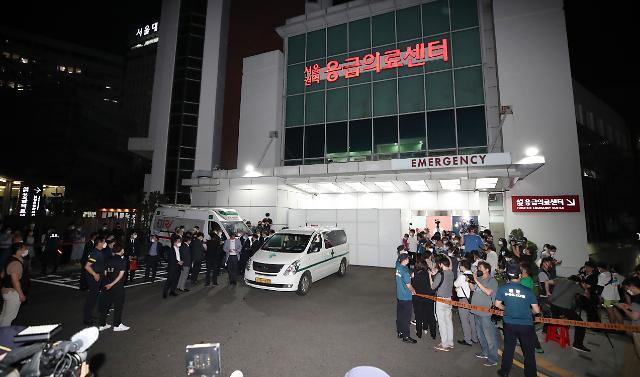 [포토] 박원순 시장 운구차 응급의료센터 도착