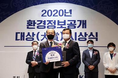 현대글로비스, '2020년환경정보공개 대상' 환경부장관상 수상