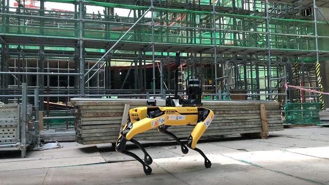 GS建設、建設現場に四足歩行ロボット「スポット」導入
