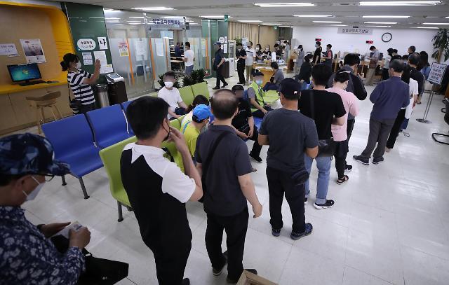 韩6月就业人口同比减35.2万人