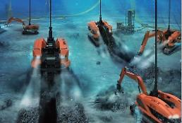 .Home-made underwater construction robots ready for on-site work.