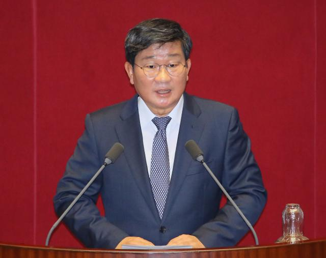 [포토] 당선소감 말하는 전해철 국회 정보위원장