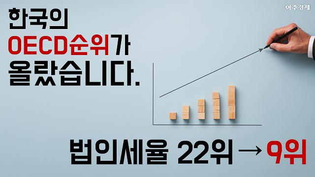 세계 정세? 韓법인세율 나홀로 역주행 [아주경제 차트라이더]