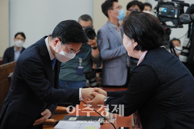 [포토] 인사나누는 김창룡-서영교